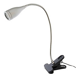 Litecraft - Ortler 1 light led clip-on task lamp in Silver