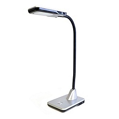 Litecraft - Hekla 1 light led Silver task lamp