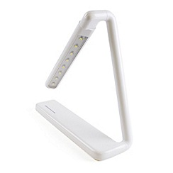 Litecraft - Zagros 1 light rechargable touch sensitive task lamp in White