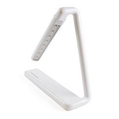 Litecraft - Zagros 1 light rechargable touch sensitive task lamp in White