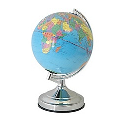 Litecraft - Globe touch sensitive table light in Chrome