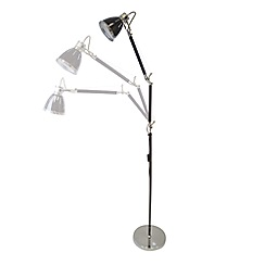 Litecraft - Hehuanshan 1 light swing-arm floor lamp in Black