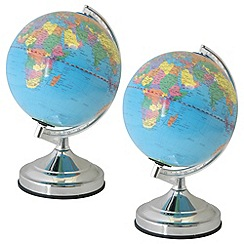 Litecraft - Pack of 2 Globe touch sensitive table lamps in Chrome