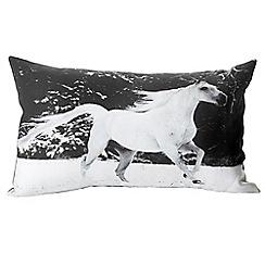 Litecraft - Galloping Horses Cushion - Grey