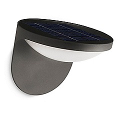 Litecraft - Philips myGarden Outdoor Dusk LED Solar Powered Wall Light - Dark Grey