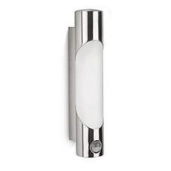 Litecraft - Philips Ecomoods Bamboo Outdoor Wall Light With Motion Sensor - Stainless Steel