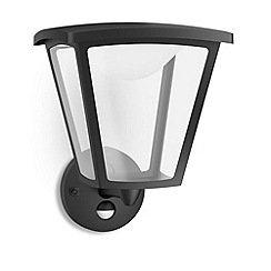 Litecraft - Philips myGarden Cottage LED Wall Lantern - Black (with Motion Sensor)