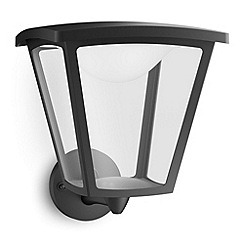 Litecraft - Philips myGarden Cottage LED Wall Lantern - Black
