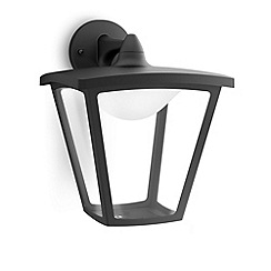 Litecraft - Philips myGarden Cottage LED Hanging Wall Lantern - Black