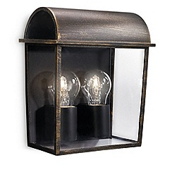 Litecraft - Philips MyGarden Harvest Outdoor Wall Light - Black & Brushed Gold