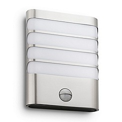 Litecraft - Philips myGarden Raccoon LED Wall Light (With Motion Sensor) - Satin Chrome