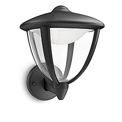 Litecraft - Philips myGarden Robin LED Wall Lantern - Black