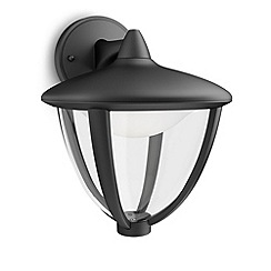 Litecraft - Philips myGarden Robin LED Hanging Wall Lantern - Black