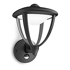 Litecraft - Philips myGarden Robin LED Wall Lantern (With  Motion Sensor) - Black