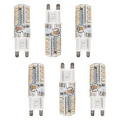 Litecraft - 6 Pack of 3 Watt G9 Energy Saving LED Light Bulb - Warm White