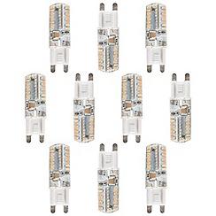 Litecraft - 10 Pack of 3 Watt G9 Energy Saving LED Light Bulb - Warm White