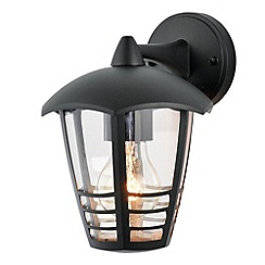 Litecraft - Francis Outdoor 1 Light Die Cast Curved Wall Lantern - Black