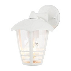 Litecraft - Francis Outdoor 1 Light Die Cast Curved Wall Lantern - White