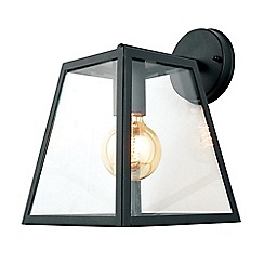 Litecraft - Rockford Outdoor 1 Light Tapered Square Panel Wall Light - Black