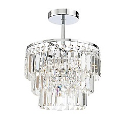 Litecraft - Vasca Crystal Bar Bathroom Chandelier Semi Flush - Chrome