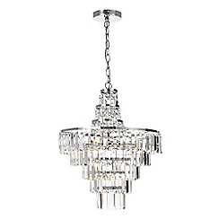 Litecraft - Vasca Crystal Bar Large Bathroom Chandelier - Chrome