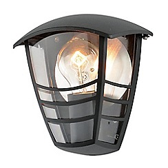 Litecraft - Francis Outdoor 1 Light Die Cast Half Wall Lantern - Black
