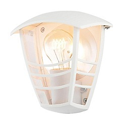 Litecraft - Francis Outdoor 1 Light Die Cast Half Wall Lantern - White