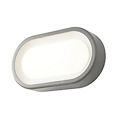 Litecraft - Linus Oval Outdoor LED Bulkhead Wall Light - Grey