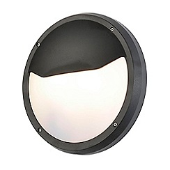 Litecraft - Johan Circular Outdoor Bulkhead Eyelid Wall Light - Black
