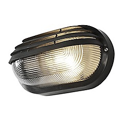Litecraft - Anders Oval Outdoor Bulkhead Eyelid Wall Light - Black