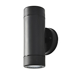 Litecraft - Hahn Outdoor Polycarbonate LED Single Up & Down Wall Light - Black