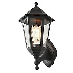 Litecraft - Neri Outdoor Polycarbonate Up & Down Wall Lantern - Black