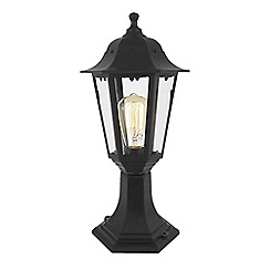 Litecraft - Neri Outdoor Polycarbonate Short Post Lantern - Black