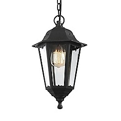 Litecraft - Neri Outdoor Polycarbonate Hanging Lantern - Black