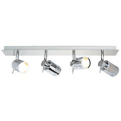 Litecraft - Hugo 4 Light Bathroom Ceiling Spotlight Bar - Chrome
