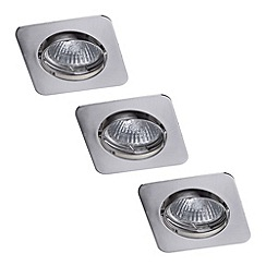 Litecraft - Centaur Square Recessed Downlight 3 Pack - Nickel