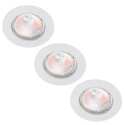 Litecraft - Circular Recessed Downlight 3 Pack - White