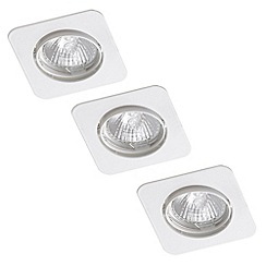 Litecraft - Centaur Square Recessed Downlight 3 Pack - White