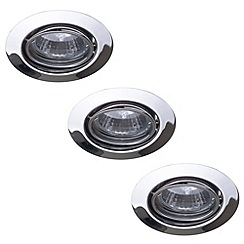 Litecraft - Opal Circular Adjustable Recessed Downlight 3 Pack - Polished Nickel