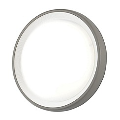 Litecraft - Linus Circular Outdoor Flush LED Wall Light - Grey