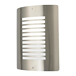 Litecraft - Sigma 1 Light Outdoor Slat Wall Lantern - Stainless Steel