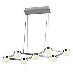 Litecraft - Calonne 7 Light Dimmable LED Ceiling Pendant - Chrome