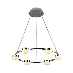Litecraft - Calonne 6 Light Dimmable LED Circular Ceiling Pendant - Chrome