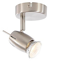 Litecraft - Renley 1 Light Ceiling or Wall Spotlight - Satin Nickel