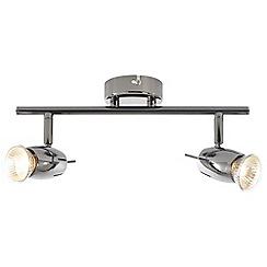 Litecraft - Frank 2 Light Spotlight Bar - Black Nickel
