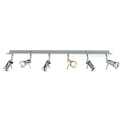 Litecraft - Murcury 6 Light Ceiling Mirror Spotlight Bar - Chrome