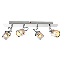 Litecraft - Cordelia 4 Light Ceiling Spotlight Bar - Chrome