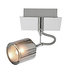 Litecraft - Coredlia 1 Light Ceiling or Wall Spotlight - Chrome
