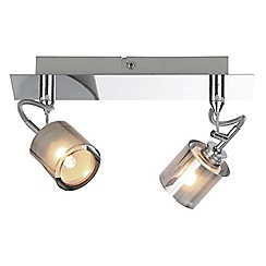 Litecraft - Cordelia 2 Light Ceiling Spotlight Bar - Chrome