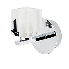 Litecraft - Ice Cube 1 Light Wall Light - Chrome